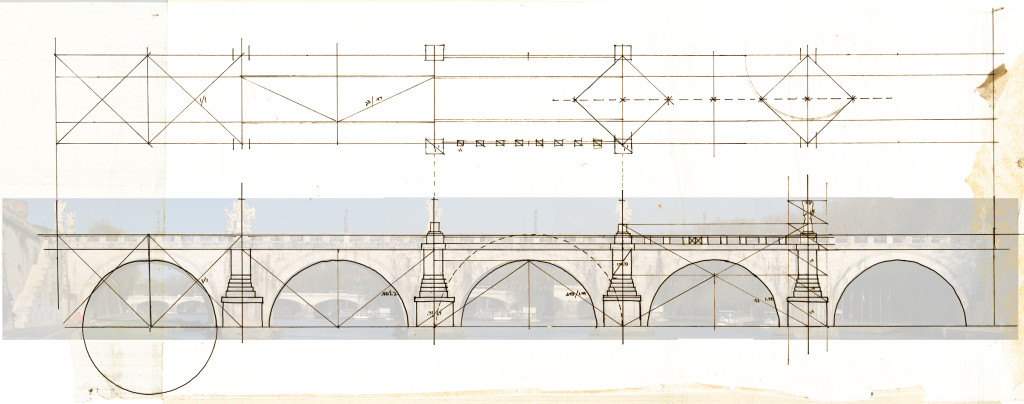 Sketch Anaylsis of bridge in plan and elevation